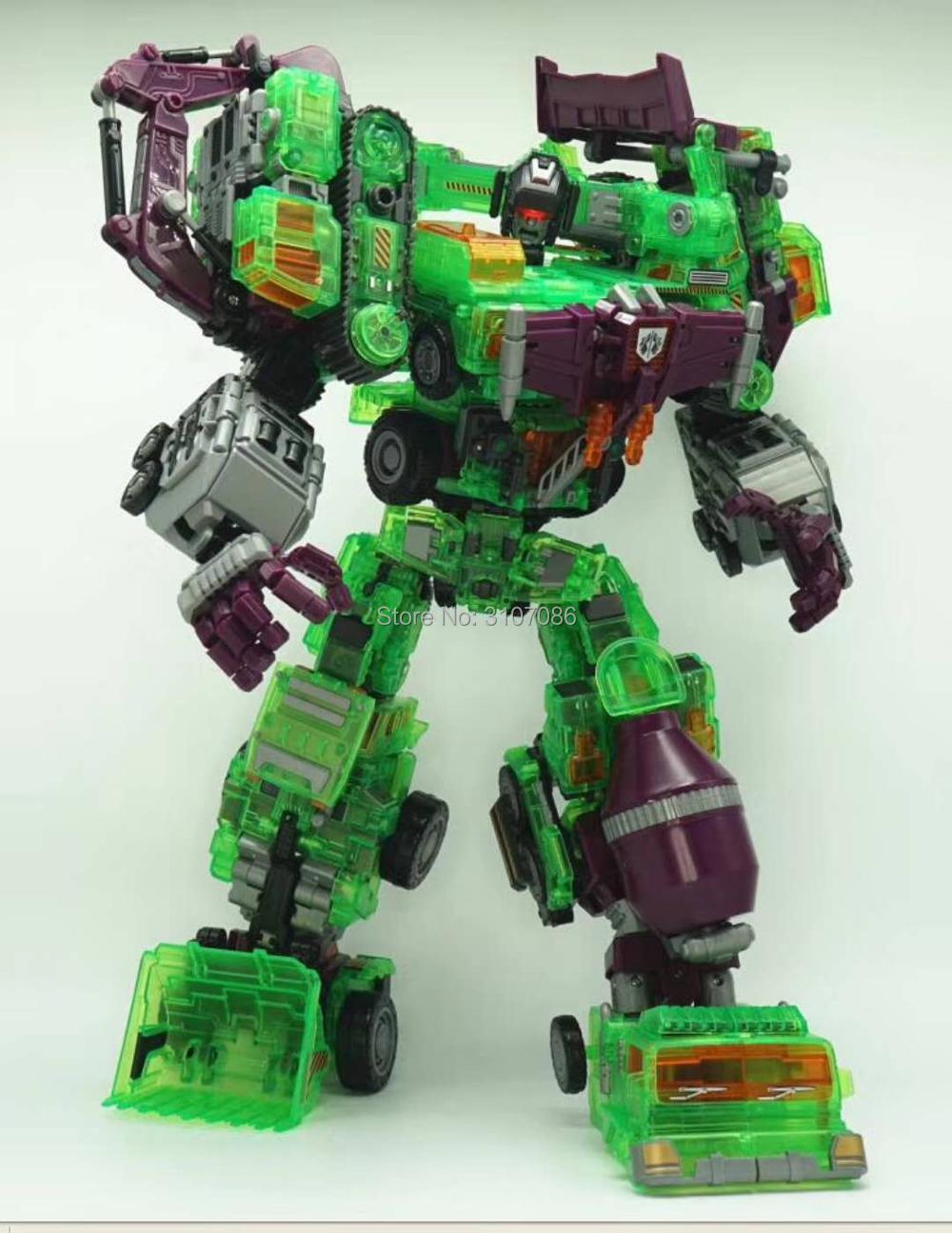 NBK Devastator 6IN1 Transparante Sets Bulldozer Scrapper Zwaartekracht Haak Transformatie Figuur Speelgoed-in Actie- & Speelgoedfiguren van Speelgoed & Hobbies op  Groep 1