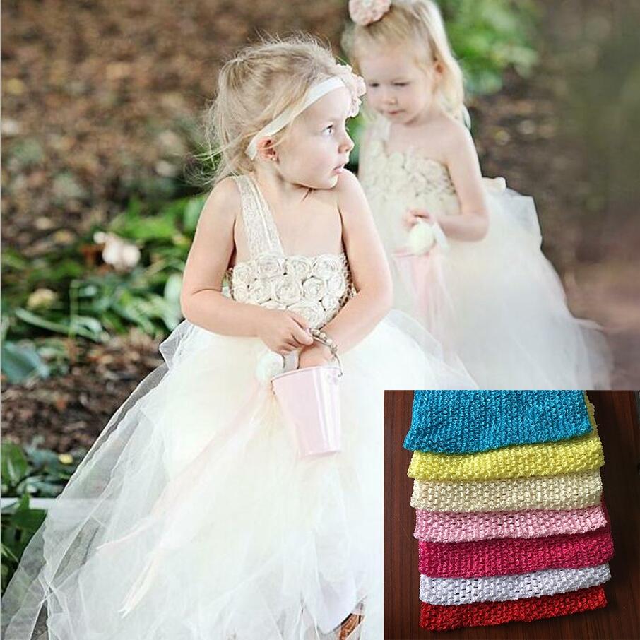 13Colors 23x20cm Tulle Crochet Tutu Top Chest Wrap Tube DIY Sewing Knit Fabric Spool Handmade Kids Headbands Skirt Accessories