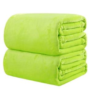 Image 5 - CAMMITEVER 10 Colros Super chaud doux Textile à la maison couverture couleur unie flanelle couvertures jeter des couvre lits draps