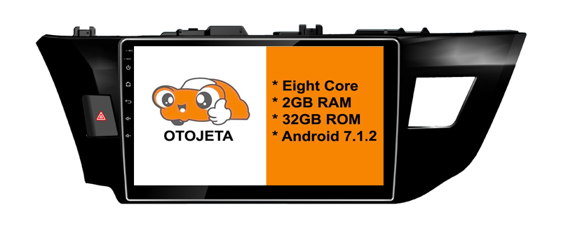 Eight Core Android 7.1.2 OTOJETA car dvd FOR toyota corolla 2015+ HEAD STEREO Touch screen radio BT gps 1080p DVR/WIFI/3G/4G