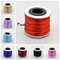 2mm; about 10m/roll Macrame Rattail Chinese Knot Making Cords Rope Craft Round Nylon Braided String Threads Black Blue Red Mauve