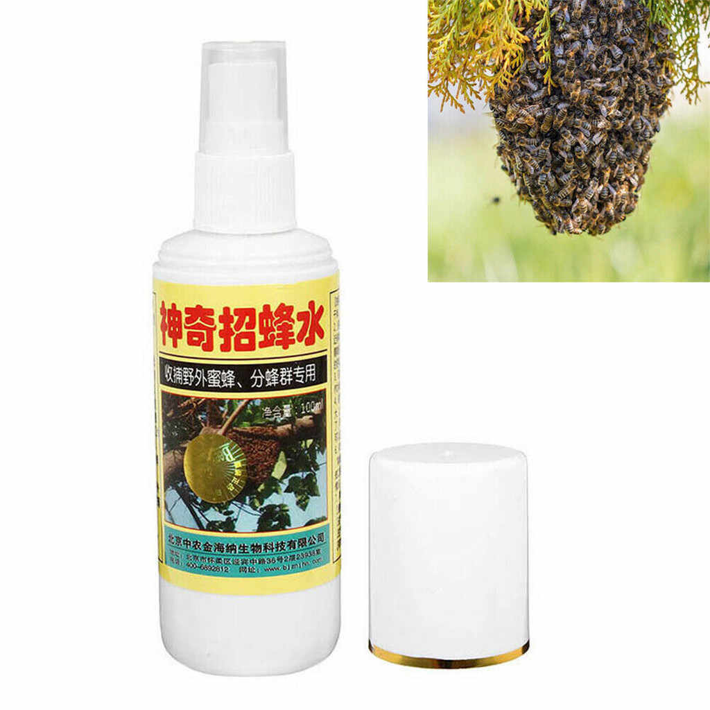 100ml New Swarm Commander Premium Lure Bait Honey Bee Hive Beekeeping Trap Tool Non-toxic Safe Non-toxic Eco-Friendly practical