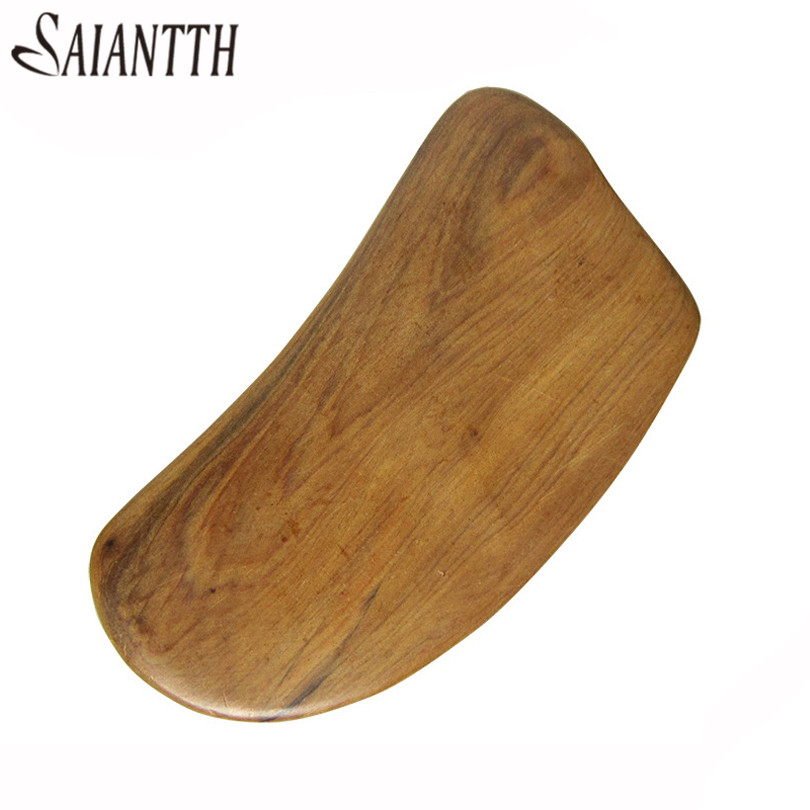 SAIANTTH Vietnamese fragrant wood Quartet scraping sheet massage Face beauty Massager Lower blood pressure promote blood move