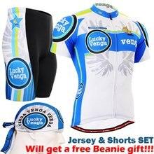 2017 Велоспорт велосипед спортивные наборы прохладный мужчины Велоспорт устанавливает лето про с коротким рукавом Велоспорт устанавливает синий и белый велосипед носить