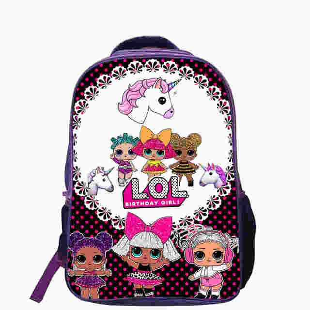 906f92530302 Surprise Dolls Baby Backpack Anime Cute Travel School Bags For Toddler Boys  Girls Kids Children Mochila Brithday Gift Bolsa