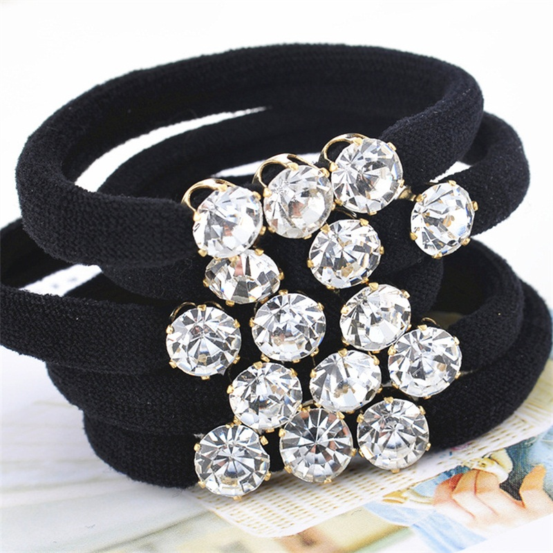 1PCS 3 Big Diamonds Hair Accessories For Women Headband,Elastic Bands For Hair For Girls,Hair Band Hair Ornaments For Kids 2017