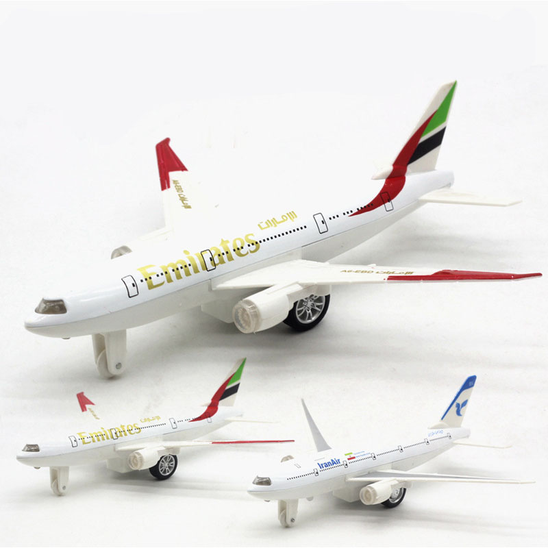 1:350 Simulation Boeing 777 Air Passenger Plane Model Pull Back Aircraft Toy Flash Light&Musical Plane Kid Children Toys GIfts image
