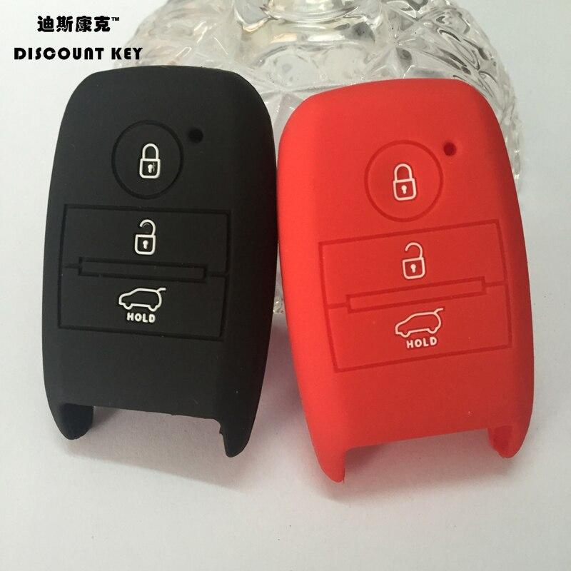 silicone car key cover for KIA K3 K5 Sorento Carens Cerato Forte car silicone rubber key