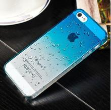 Phone Protective Shell Fresh 3D Raindrops Waterdrop Gradient Cases Cover For Iphone 5 5S Case For IPhone5 6 6plus 7 7plus Case