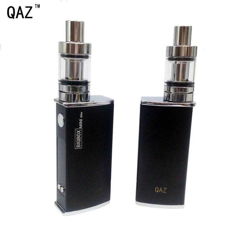 Großen rauch Sichere Elektronische Zigarette Vape 80 watt Box Mod Verdampfer Shisha E Shishia Stift Mech Vaper Kit Rauchen 2600 mah