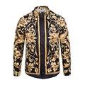 Медуза рубашку с Длинными рукавами весна осень Harajuku Медуза золотая цепь/Шиповник печати рубашки Ретро цветочные свитер Мужчин рубашки