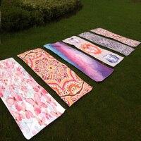 Yoga mat/handdoek-microfiber fancy garens, 72 ''x 26''/'(183x67 cm) comfort yoga mat voor oefening, yoga en pilates, etc