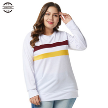 Spring Big Size Sweatshirts Women 2018 Ladies Long Sleeve Casual O Neck Patchwork Pullover Clothes Plus Sweatshirt