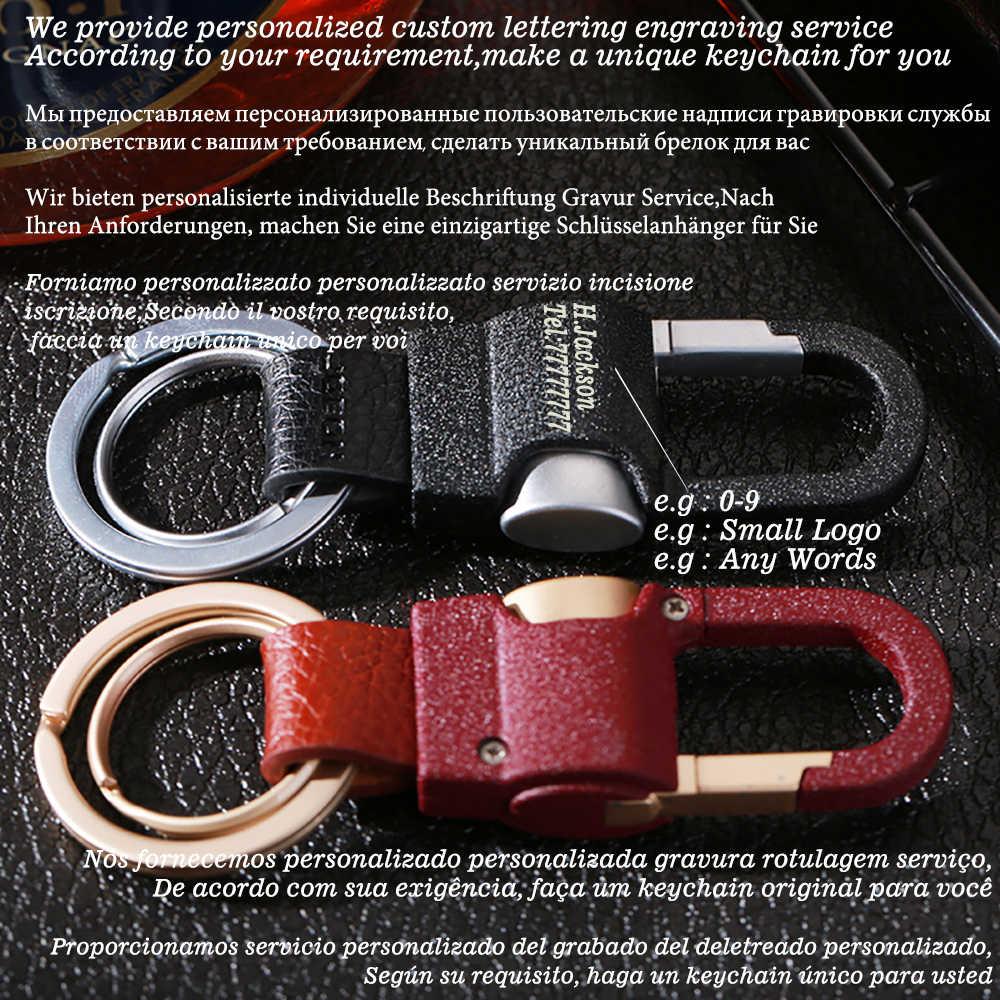 2019 Jobon высококачественный классический мужской брелок на заказ надпись Автомобильная застежка для брелока кожаный держатель для ключей Лучший подарок для влюбленных