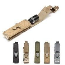 Étui de boussole digitale 1000D Nylon Molle étui de lumière armée poche de lampe de poche tactique pour Camping randonnée chasse