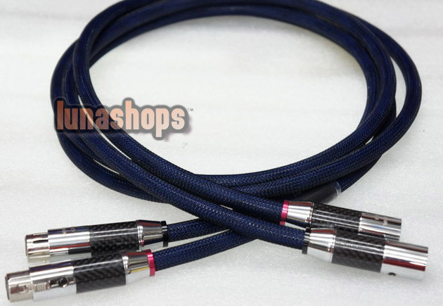 1.5m Denmark GUZI -196 Degree frozen Hifi power Cable XLR
