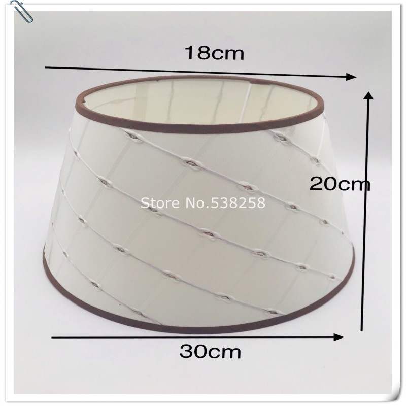 Lamp shade for table lamp cotton and linen cloth art shell cover wall lamp lamp accessories