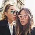 Mais novo Designer de Marca Do Vintage Tendência Óculos de Sol Frescos Moda Personlity Homens Mulheres Rua Pressão Óculos UV400 Oculos de grau