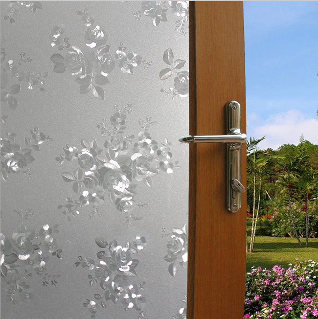 0.45*1m,Forsted - Electrostatic Glass Film Windows Stickers for Balcony ,Office,Gate or Bathroom Shading Sunscreen 93