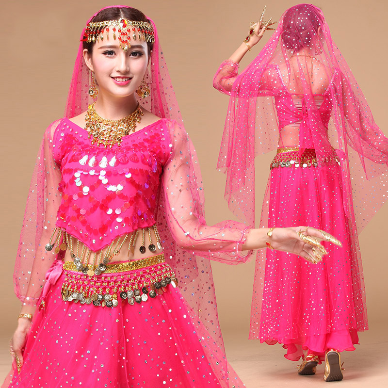 Belly Dance Costumes Sexy Clothes Indian Dance Costume Chiffon Belly Dancing Clothing Women Performance Costume DN1551