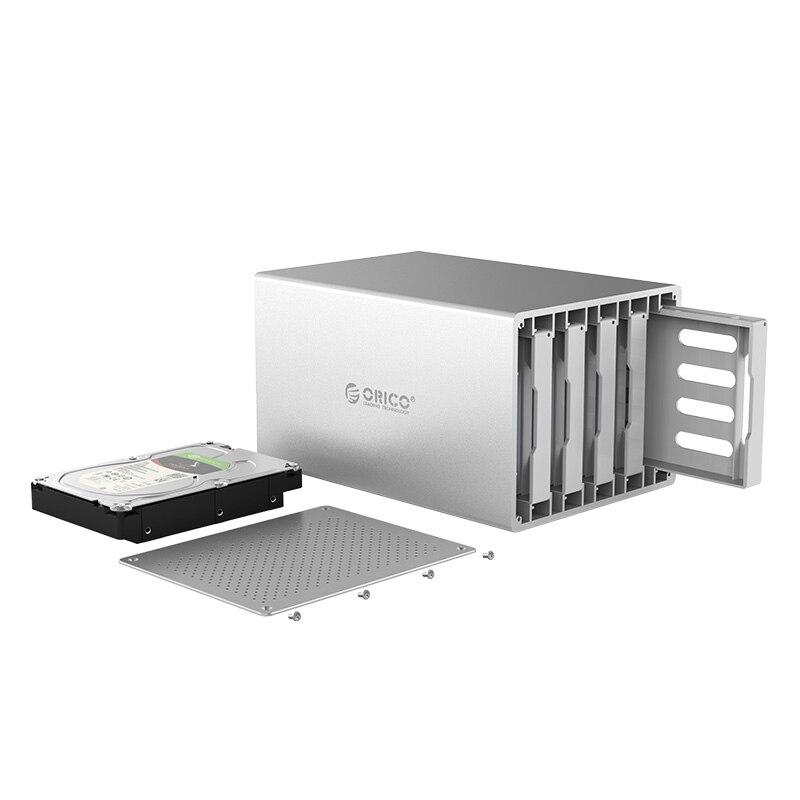 ORICO WS500U3 série nid d'abeille 3.5 pouces 5 baie en alliage d'aluminium USB3.0 boîtier de disque dur boîtier HDD Support 5 Gbps