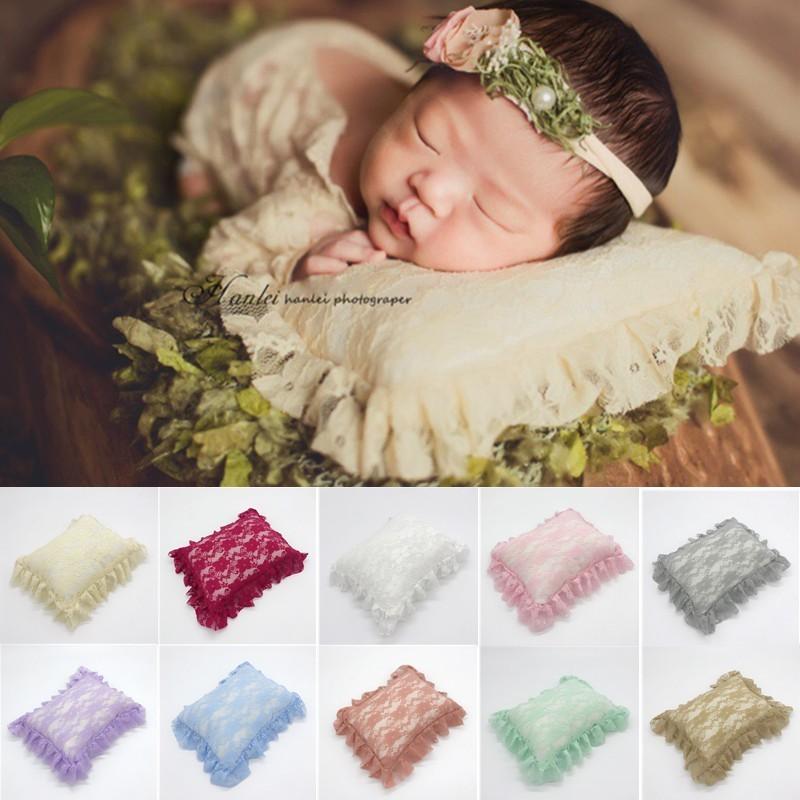 2019 Pasgeboren Baby Posting Kussen Gehaakte Zachte Kant Klepstandsteller Kussen Fotografie Props Infant Studio Fotoshoot Props