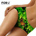 FORUDESIGNS High Quantity 3D Animal Printing Sexy Underwear For Women Silky Soft Mid Waist Briefs Plus Size S-XL