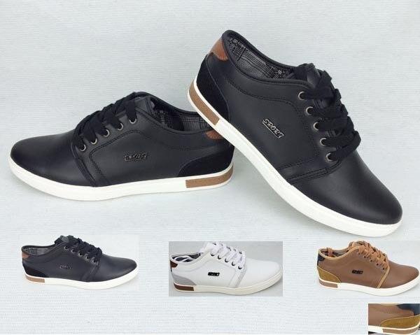 aaf6aa6b Venta al por mayor las zapatillas para niños negro hombres zapatos marcas zapatillas  para hombre del cuero genuino masaje Anti resbaladizo Qf 24 en Zapatos ...