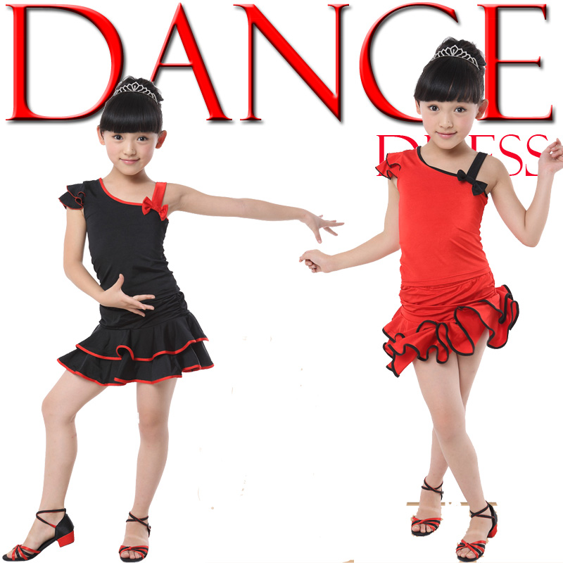 c1c0e6777 Girls Latin Salsa Dancing Dress Kids Ballroom Competition Party ...