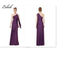Robe De Soiree Sexy Schulter Lange Abendkleider Eine Linie Braut Bankett Elegante bodenlangen Party Prom Kleid
