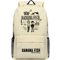 BANANA FISH Cartoon Backpack Laptop Men Women Cosplay Oxford School Bag Teenage Boys Large Backpacks Travel Bags Mochila Escolar