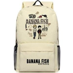 Image 1 - Mochila con dibujos de peces y plátano para hombre y mujer, Mochila Escolar de Oxford para Cosplay, bolso de viaje para Mochilas grandes y adolescentes