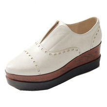 Brand New Spring Autumn Flat Platform Pointed Toe Slip-On Rubber Beige Grey Black Casual Women's shoes Flats Women Flat Shoes