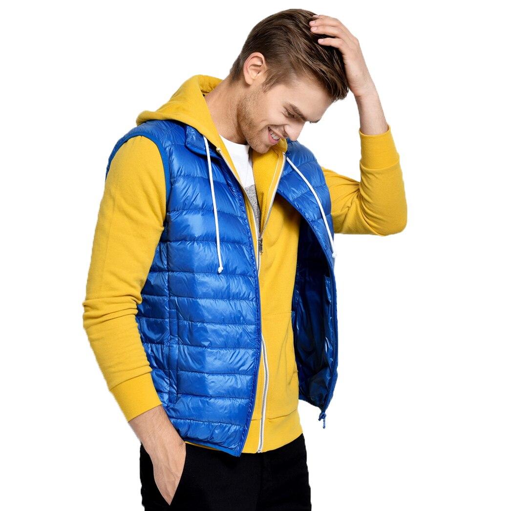 Image 3 - 2019 New Arrival Brand Men Sleeveless Jacket Winter Ultralight White Duck Down Vest Male Slim Vest Mens Windproof Warm Waistcoat-in Vests & Waistcoats from Men's Clothing