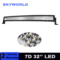 Triple Row 7D 405W 32 inch Curved LED Work Light Bar Combo Beam Offroad Led Bar Driving Lamp Truck Boat SUV ATV 4x4 4WD 12v 24v
