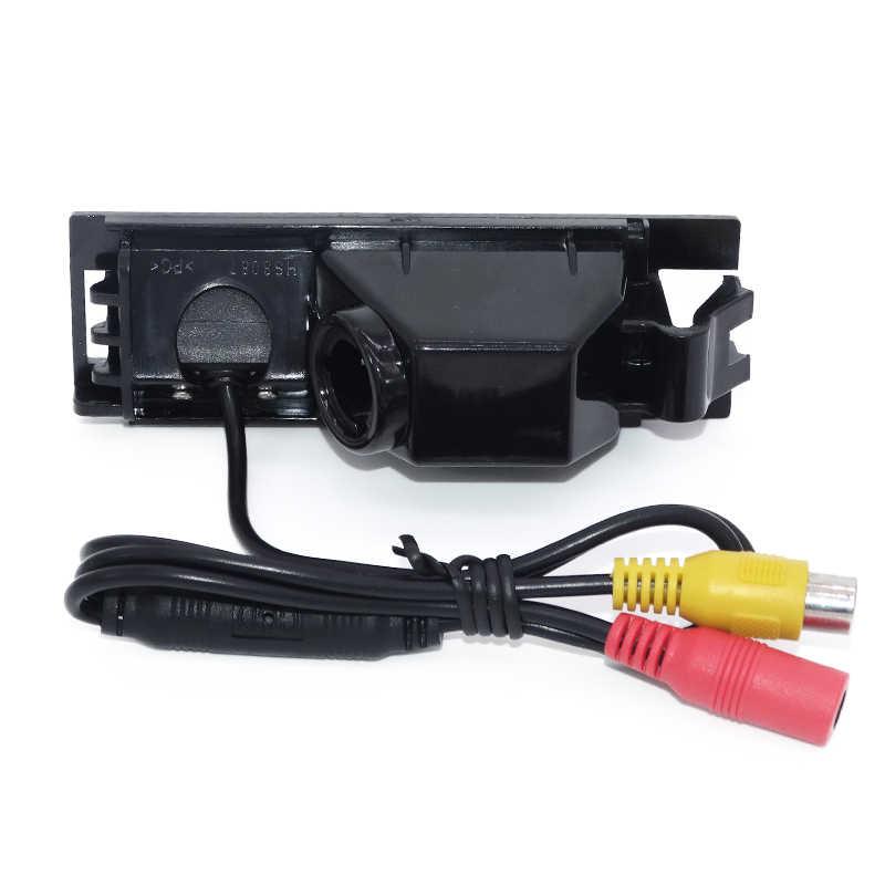 Material de lente de cristal HD CCD cámara de visión trasera de reserva de coche cable automático 170 angular aplicar para Hyundai IX35 2010/2012 /tucson 2011