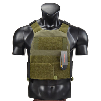 Law Enforcement Low Profile Plate Carrier Bullet Proof Vest Ranger Green Airsoft CQB CQC Wargame Military Hunting Police TW-VT08 1
