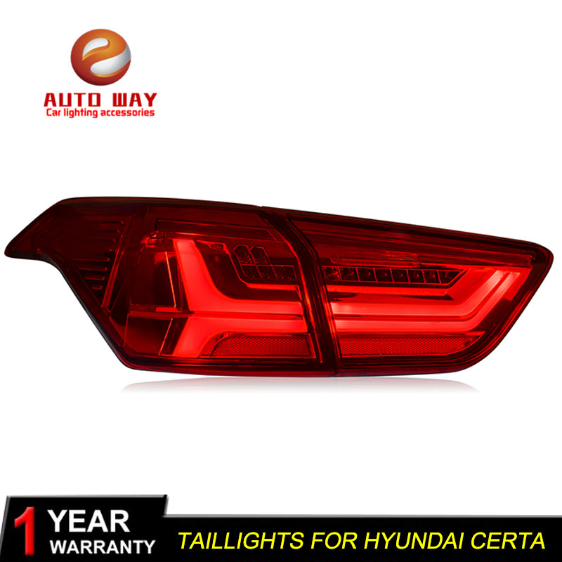 Car Styling for Hyundai ix25 2016 Certa taillights TAIL Lights LED Tail Light LED Rear Lamp Certa taillight Automobile paired ol jt03 led automobile tail light