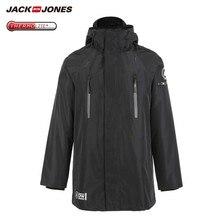 JackJones גברים של חורף 3 ב 1 סלעית Parka מעיל ארוך מעיל חם מעיל יוקרה בגדי גברים 218309510