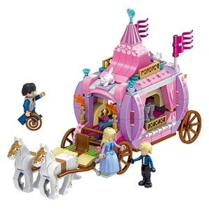 Image 4 - 7 in 1 Prinsen Windsor Castle Compatibel Legoings Vriend Meisje DIY Model Bouwstenen Speelgoed Meisje Kinderen Kerstcadeaus