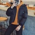 2017 новый Бренд зима теплая Куртка для мужчин с капюшоном пальто случайные мужские толстый слой мужской тонкий вскользь хлопка мягкой верхней одежды