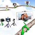 Ventas al por mayor gekkopod flexible de silicona del soporte del trípode para iphone para gopro hero 5 xiaomi yi 4 k sjcam sj4000 con larga tornillo