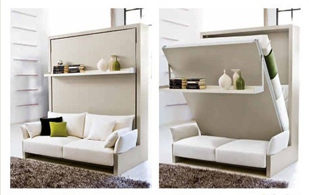 space saving bed luch break folding sofa bed wallbed turnover wall ...