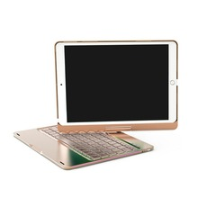 "Drahtlose Bluetooth Aluminium Tastatur Fall Für IPAD PRO 9,7/10,5 ""Zoll 360 Grad Tastatur 7 FARBE Hintergrundbeleuchtung Folio abdeckung"