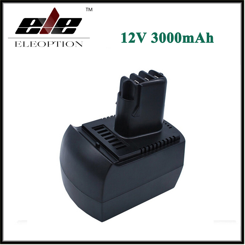 Eleoption 12V 3000mAh Ni-MH Replacement Power Tool Batteries for METABO 6.25473 ULA9.6-18 BS 12 SP BSZ 12 Impuls