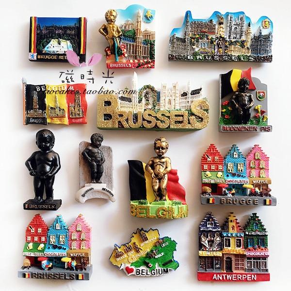 Creative Travel Brussel Belgium Refrigerator Magnet 3D Fridge Magnet Sticker Travel Souvenir Kitchen Home Decoration Accessories
