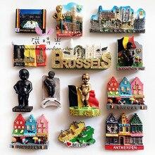 Creative Travel Brussel Belgium Refrigerator Magnet 3D Fridge Sticker Souvenir Kitchen Home Decoration Accessories