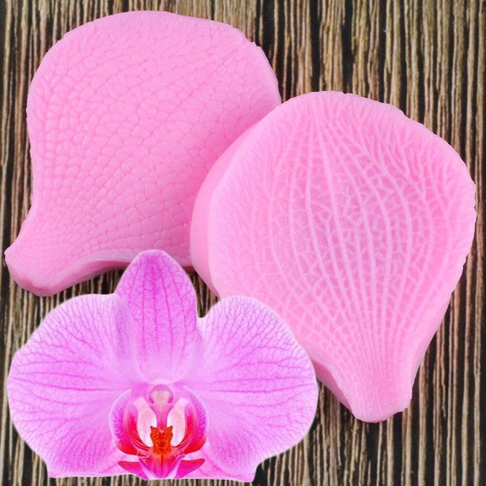 Бабочка Орхидея помадка силиконовая форма 3D цветок для приготовления пищи свадебное украшение для выпечки сахар ремесло формы бабочка Орхидея DIY торт|Формы для тортов|   | АлиЭкспресс