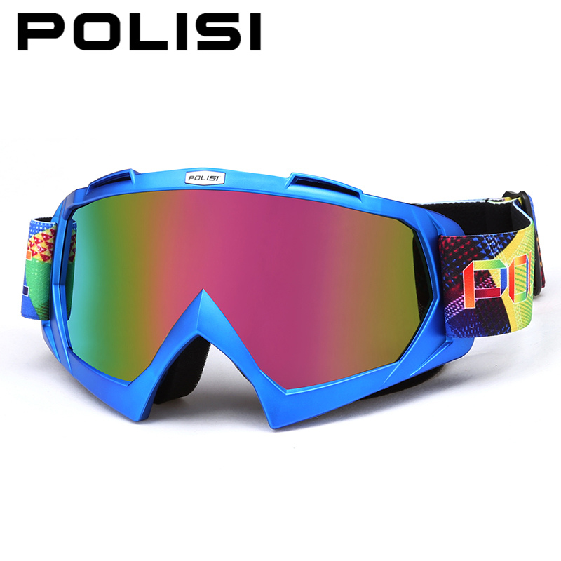 POLISI Motocross Off-Road Helmets Goggles Motorcycle MBX Downhill Dirt Bike Cycling Glasses Snow Ski Snowboard Anti-Fog Eyewear