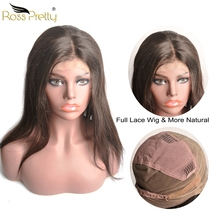 Quality Remy Full lace wig Brazilian Straight full lace human hair wigs Brazilian Hair Natural Color 1b Human Hair Lace Wigs